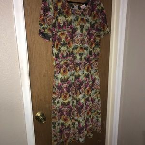 Lularoe Amelia dress. Beautiful floral print. 2xl